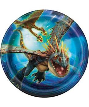 "How To Train Your Dragon 3 7"" Dessert Plate (8)"