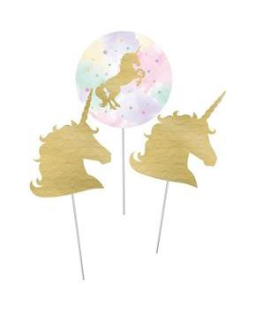 "Sparkle Unicorn 12"" Centerpiece Sticks (3)"