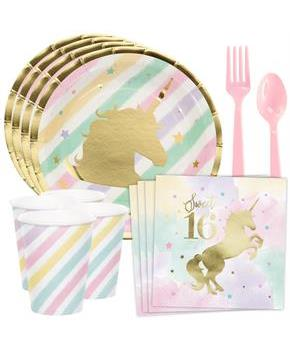 Unicorn Sparkle 16th Birthday Standard Tableware K