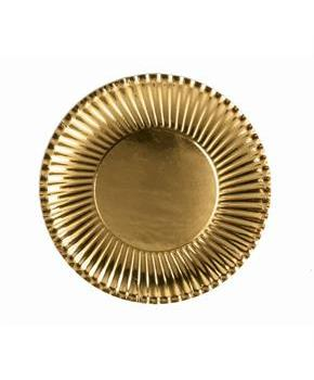 "Gold 9"" Paper Plates (10)"