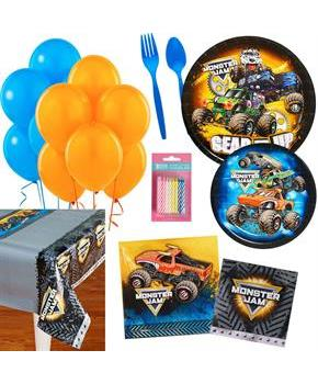 Monster Jam Party Supplies Kit for