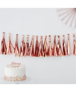 Ginger Ray Rose Gold 6.5' Tassel Garland Banner