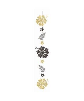 Luau Luxe Glitter Flower 6' String Decoration