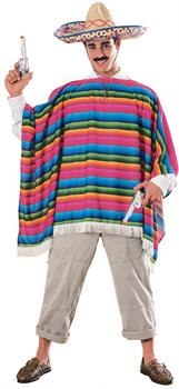 Men's Mexican Serape Adult Costume - Brown - Standard One-size