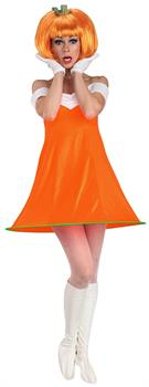 Women's Fruity Licious Pumpkin Spice Adult Costume - Orange
