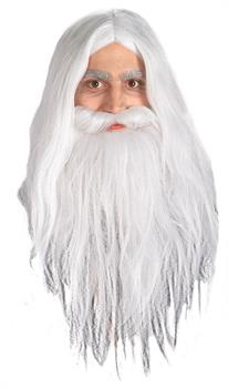 Men's Gandalf Wig & Beard - Lord of the Rings - White - One-Size