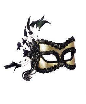 Black and Gold Carnival Mask