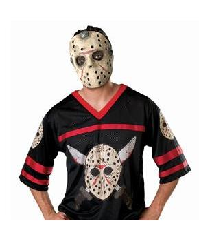 Friday the 13th Jason Hockey Jersey with Mask Adult Costume