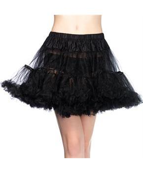Women's Tulle Petticoat Layered Black (One-Size) - Black - One-Size