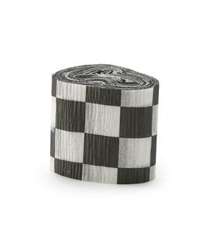 Black and White Checkered Crepe Paper
