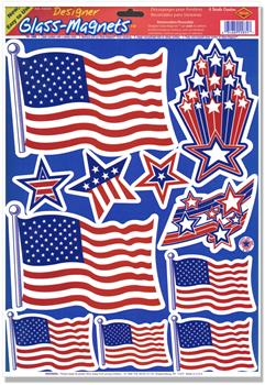 Patriotic Window Clings (1 sheet)