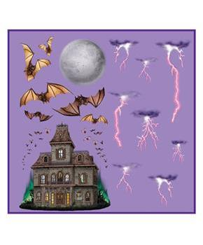 Haunted House & Night Sky Props Wall Add-Ons