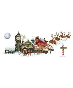 5' Santa's Sleigh and Workshop Props Wall Add-Ons