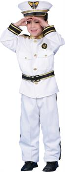 Boys Navy Admiral Deluxe Child Costume