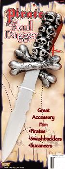 Pirate Skull Dagger - Silver - One Size for Halloween