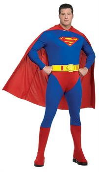 Men's Superman Adult Plus Costume - Red - Plus for Halloween