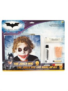 Batman Dark Knight - Deluxe Joker Wig / Makeup Accessory Kit (Adult)
