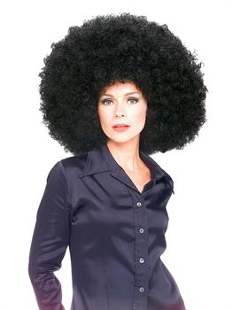 Men's Wig, Super ''Fro'', Black - Black - One Size