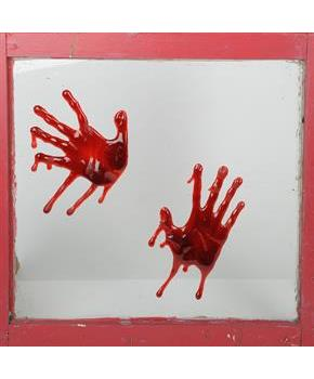 Bloody Hands 3D Splatz Clings