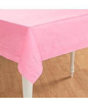 Pretty Pink Paper Tablecover