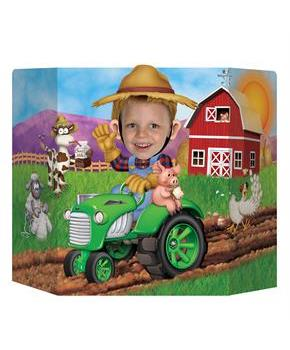 "Farm Tractor Photo Prop 37"" wide x 25"""