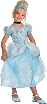 Girls Disney Cinderella Deluxe Toddler / Child Costume