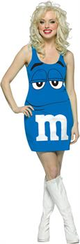 M&M Blue Tank Dress Adult Costume