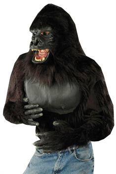 Men's Adult Gorilla Shirt - Black - One-Size for Halloween