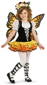 Girls Monarch Butterfly Child Costume for Halloween