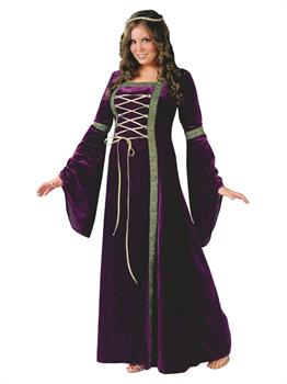 Women's Renaissance Lady Adult Plus Costume - Purple - Plus (16W-24W)