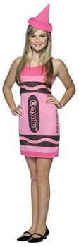 Tickle Me Pink Crayola Crayon Teen Costume