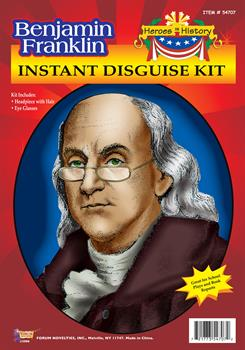 Heroes in History Ben Franklin Wig and Eyeglasses Child