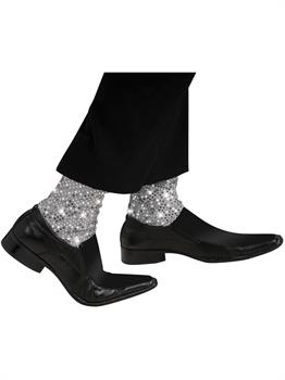 Michael Jackson Sparkle Socks Child - Silver - One-Size for Halloween