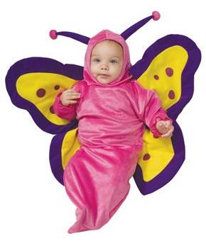Girls Butterfly Bunting Costume - Pink - 0-9 Months