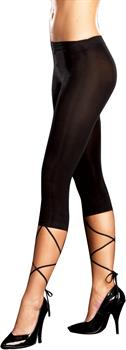 Lace Down Legging (Black) Adult