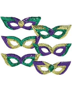 Mardi Gras Sequin Party Masks
