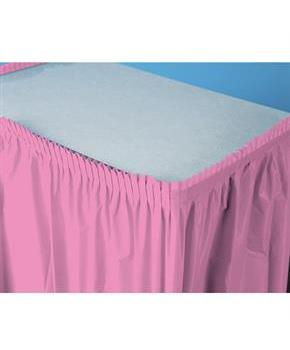 "Candy Pink (Hot Pink) Plastic Table Skirt 29"" H x 14' W"