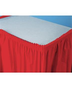 "Classic Red (Red) Plastic Table Skirt 29"" H x 14' W"