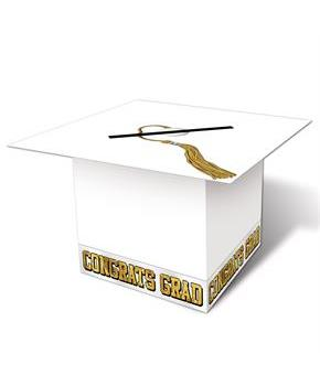 White Grad Cap Graduation Card Box
