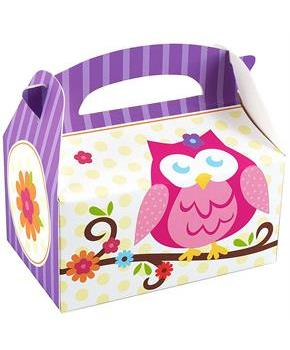 Owl Blossom Empty Favor Boxes