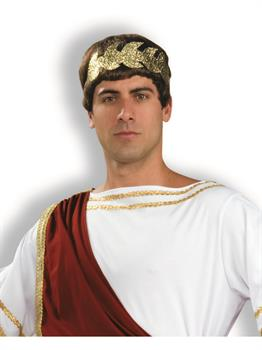 Men's Roman Wreath Headband - Gold - One Size