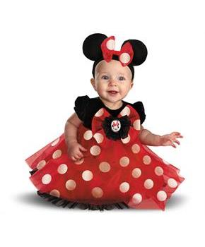 Girls Disney Red Minnie Mouse Infant Costume