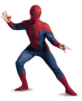 Men's The Amazing Spider-Man Movie Deluxe Adult Costume - Red/Blue