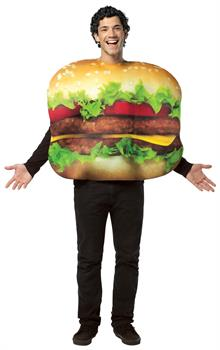 Cheeseburger Adult Costume - Multi-colored - One-Size (Standard)