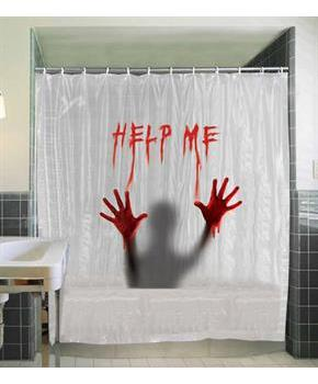 Help Me Shower Curtain - Clear