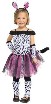 Girls Zebra Toddler Costume