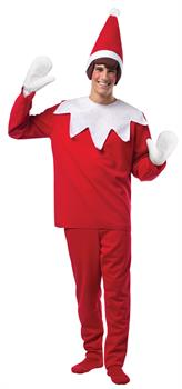 Men's Elf On The Shelf Adult Costume - Red/White - One-Size
