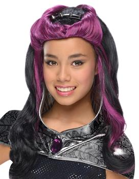 Girls Ever After High - Raven Queen Wig with Headpiece
