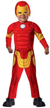 Boys Avengers Assemble Iron Man Toddler Boy Costume - Red Yellow