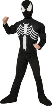Boys Ultimate Black Spider-Man Muscle Chest Kids Costume